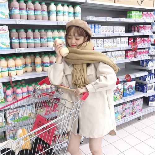 【トップス】キュートレトロファッションPOLOネック長袖ラシャコート