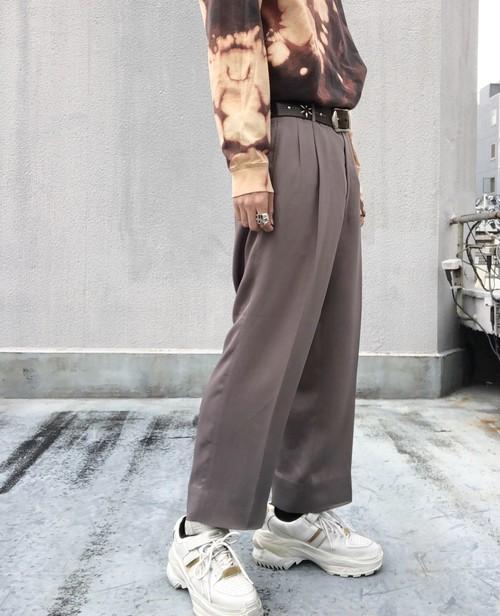 USED / Hi - waist summer trousers - beige -