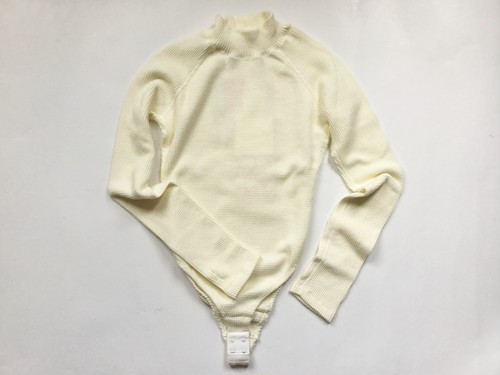 "MAISON EUREKA "" STRETCH THERMAL HIGH NECK BODY SUIT "" IVORY"