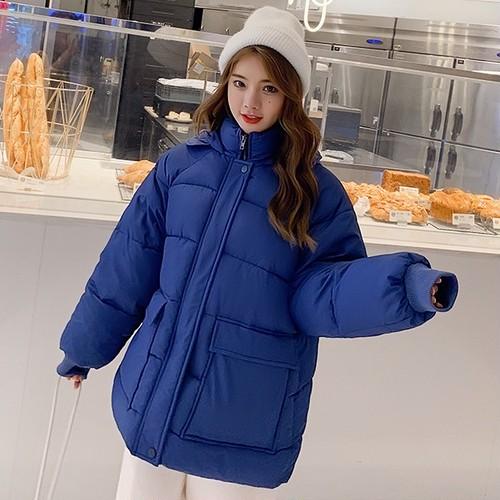 【アウター】人気登場韓国風フワフワ長袖無地厚い保温4色ダウンコート