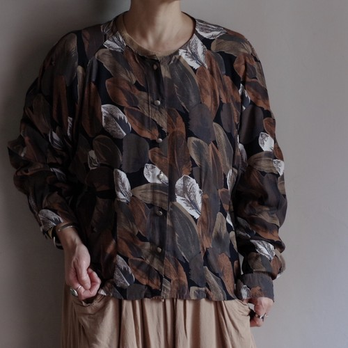 Leaf Pattern Shirt / リーフ柄 シャツ