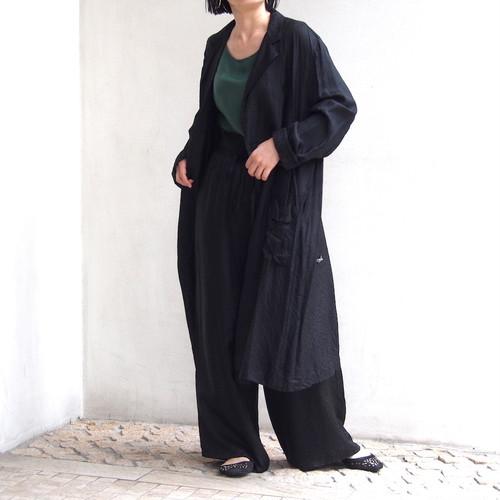 【hippiness】cupro coat (Jacquard10black)/【ヒッピネス】キュプラ コート(ジャガード10ブラック)