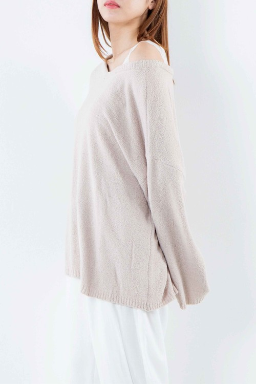 Souffle knit 2WAY pullover