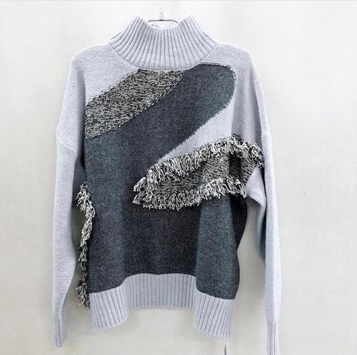 フリンジニット プルオーバー【fringe knit pullover】