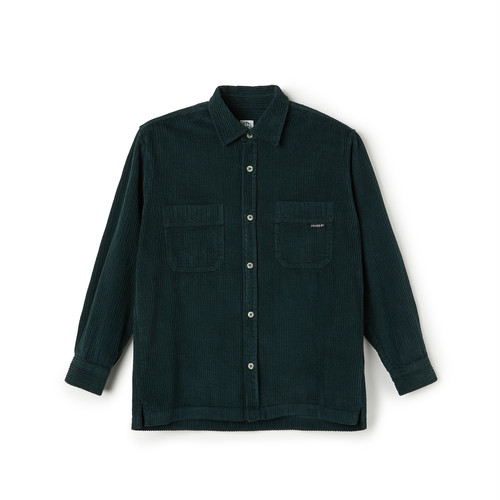 POLAR SKATE CO / CORD SHIRT -DARK GREEN-