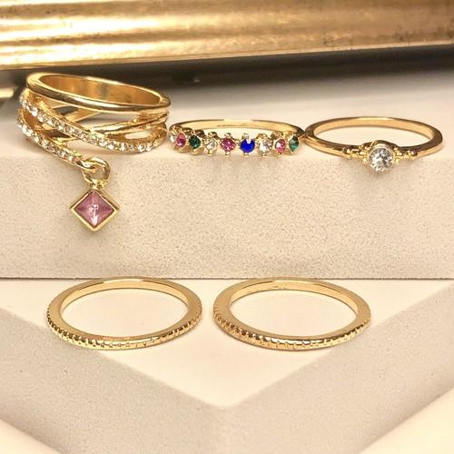 Multi color rings set / マルチカラーリングセット