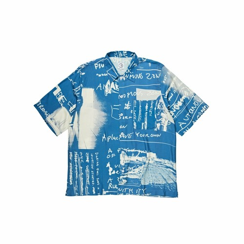 POLAR SKATE CO(ポーラー) / ART SHIRT STRONGEST NOTES -BLUE-