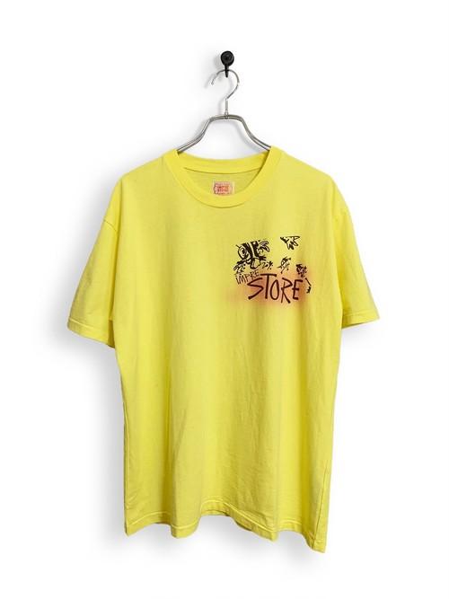 Original Short Sleeve-T / air brush /  Light yellow