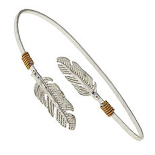 Double Charm Bangle-FEATHER (9731B-FEATHER)