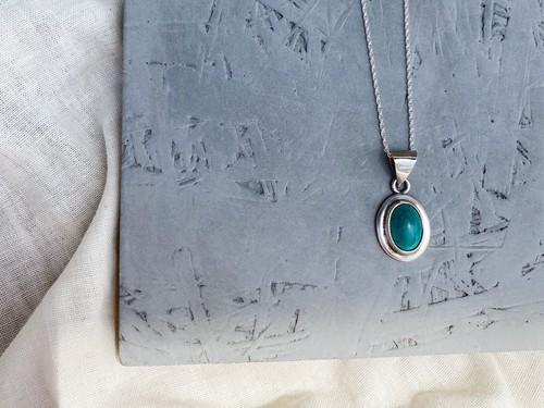 〈vintage silver925〉turquoise necklace