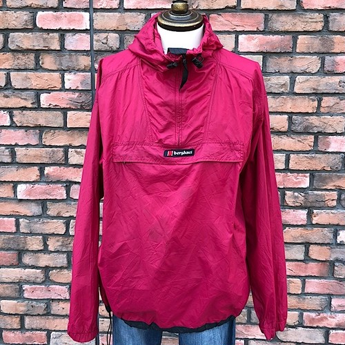 1990s Berghaus Pocketable Nylon Hoodie Made In England