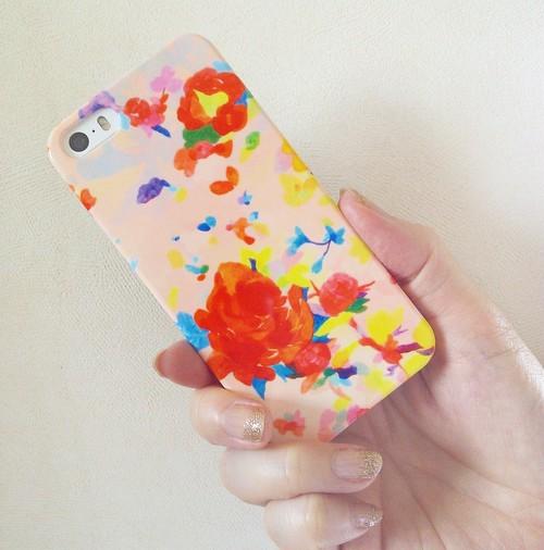 """""""ピンクの花""""iphone6/6s用ケース"""