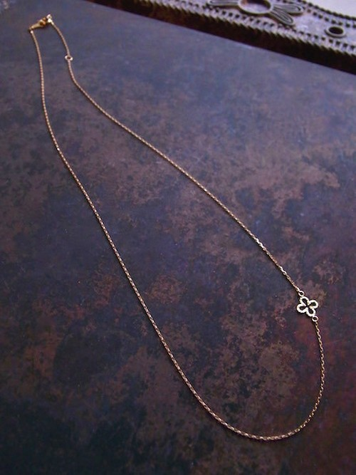 K18 CROSS MOTIF CHAIN 40cm