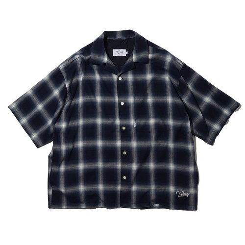 KEBOZ×FREAK'S STORE SPECIAL OMBRE CHECK SHIRT SHORT SLEEVE【NAVY】