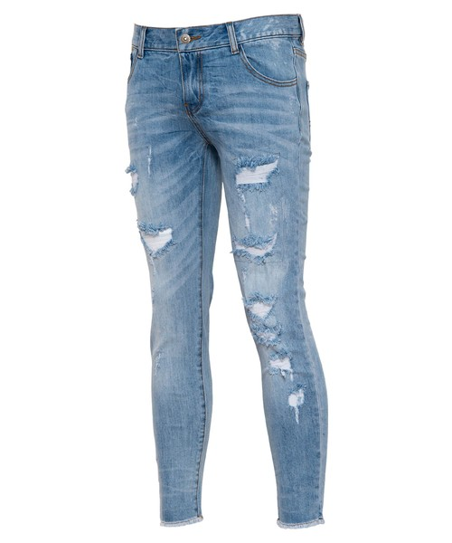 VINTAGE CRUSH CUT SKINNY DENIM[REP088]