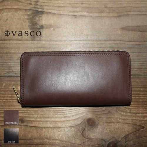 vasco レザーZIPロングウォレット LEATHER VOYAGE ROUND ZIP LONG WALLET VSC-701Z (CORTESIA)