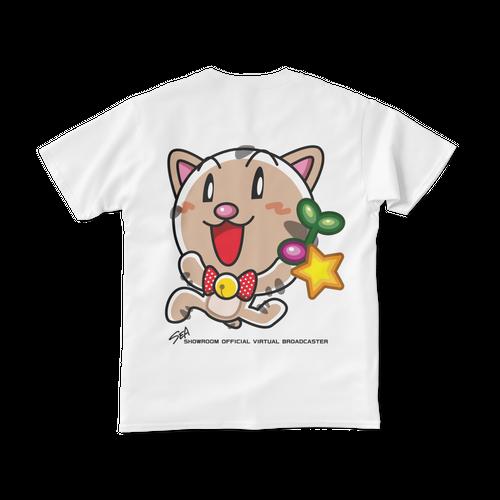 <白Tシャツ 背面>回収みーちゃん