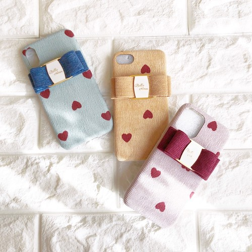 Heart corduroy  iPhone case