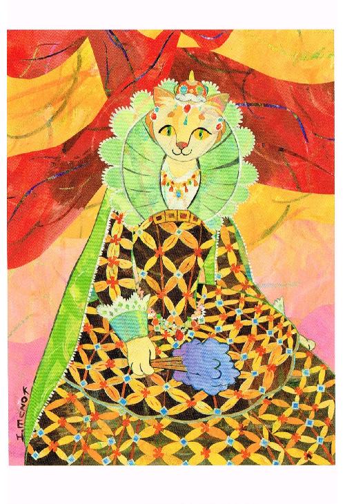 2011年「クイーンエリニャベス」絵はがき
