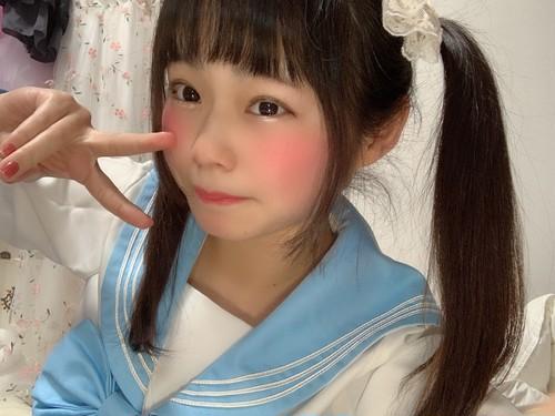 チェキ【水色セーラー服】