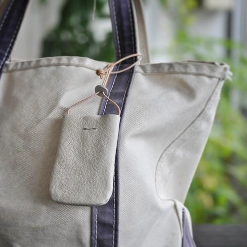 革のPASMO&Suicaホルダー(white)