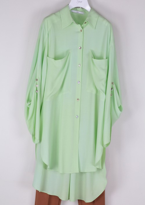 RAYON  W POCKET SHIRT [GRN]