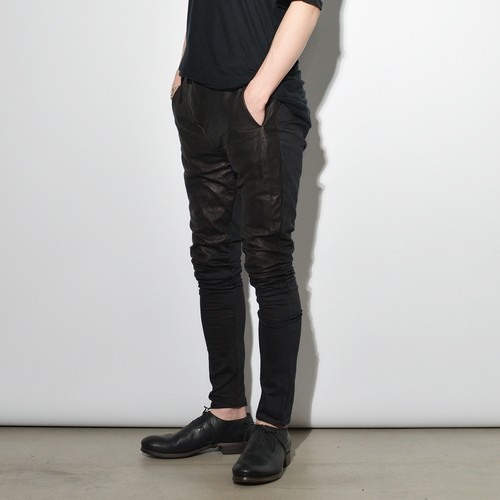 "Leather×Cotton ""Skinny""Pants  〈XYZ-77 Black〉"
