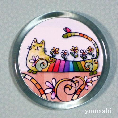 ビックマグネット 「虹色の猫」