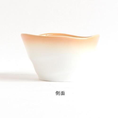 【2959-2740】ろくべい小鉢(口径9.0×高さ5.2cm) ぼかしオレンジ
