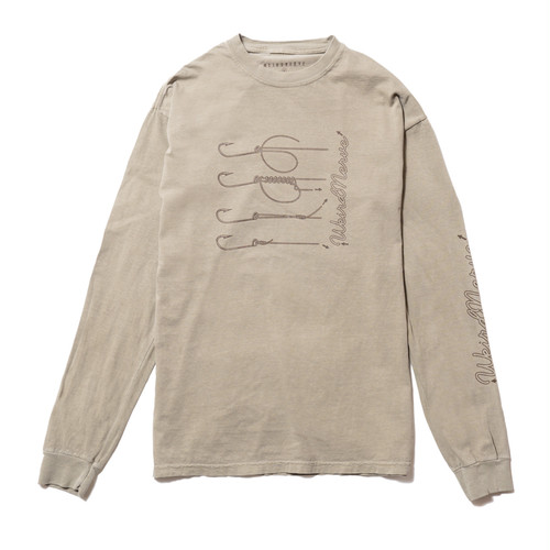 Hook and Line L/S Tee (Beige)