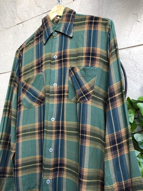 1970s rayon check shirt