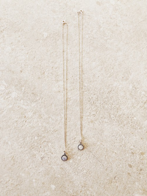 受注販売▶︎Moonstone Necklace/NDB19003