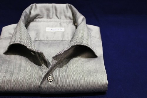 CADETTO ORIGINALS SHIRTS Silver Herringbone