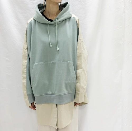 異素材組み合わせパーカー【fleece pile×cloth hoodie】