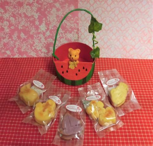 クマちゃん付きスイカケースに夏の焼き菓子5袋詰め合わせ