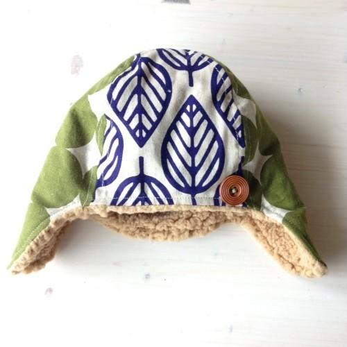 あったか冬帽子(葉っぱ)・小(サイズ50くらい)