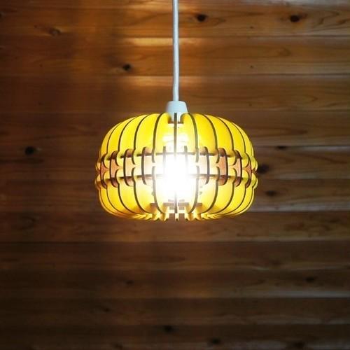 「マカロン(チョコバナナ)」木製ペンダントライト
