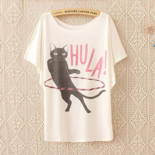フラフープ猫Tシャツ