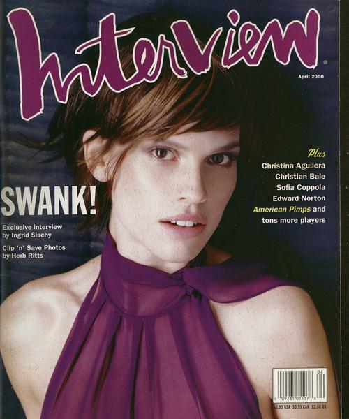 Interview Magazine 2000年4月号 ヒラリー・スワンク