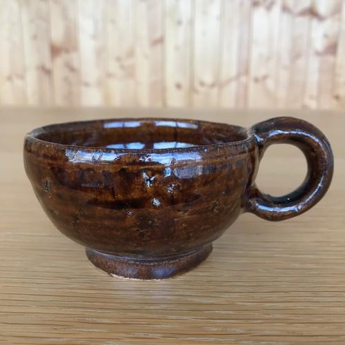 益子焼 飴色マグカップ