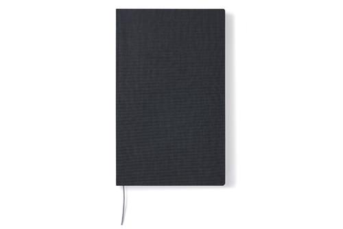 ノートブック A5スリム ブラック 方眼 (210x130mm)