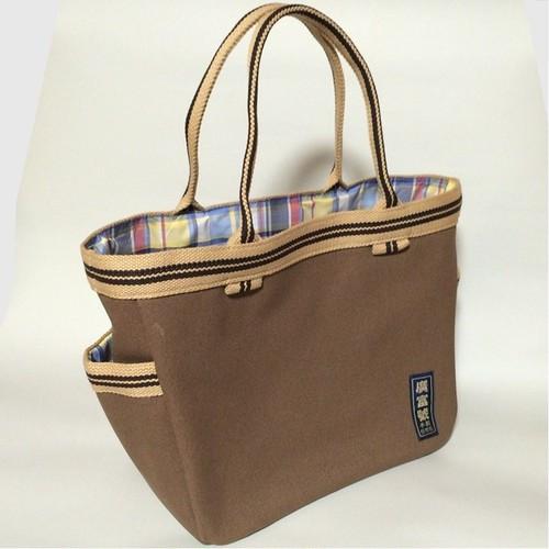 帆布かばん ピクニックバッグ 茶色