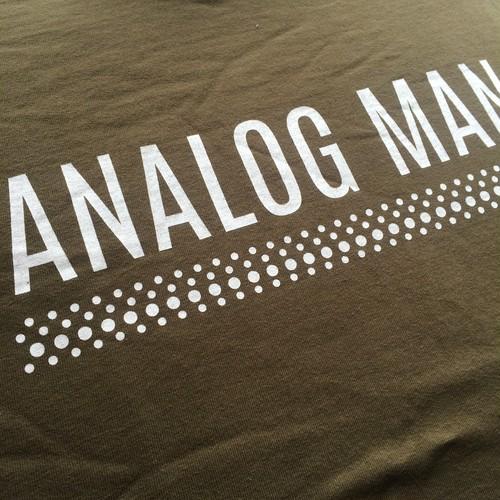 アナログマンTシャツ2015 カーキ