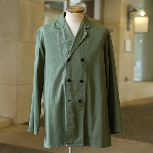 OLD DUTCH MILITARY DOUBLE BREASTED JACKET ONE WASH