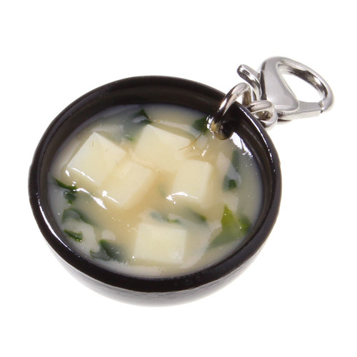 [0149]食品サンプル屋さんのファスナーフック(味噌汁:白)