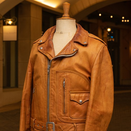 OLD CYCLE RIDER LEATHER JACKET