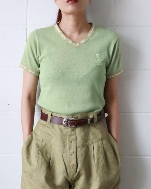 FENDI pale green summer t-shirt