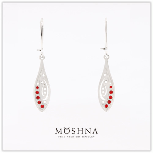 【MOSHNA:モシュナ】SILVER EARRINGS RED DROP ピアス