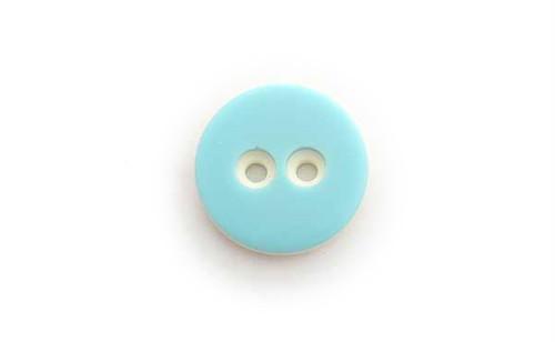 ヴィンテージ・ブルー×ホワイトバイカラーボタン