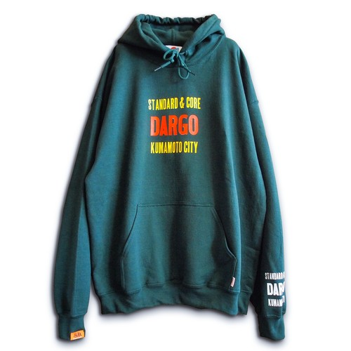 "【DARGO】""活版 Logo"" Pull Over Hoodie (FOREST GREEN)"